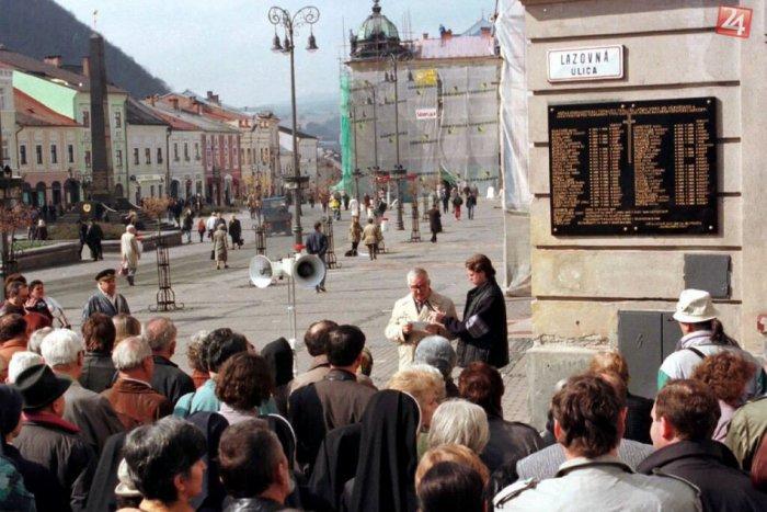 Ilustračný obrázok ku kvízu Názvy ulíc Bystrice za socializmu