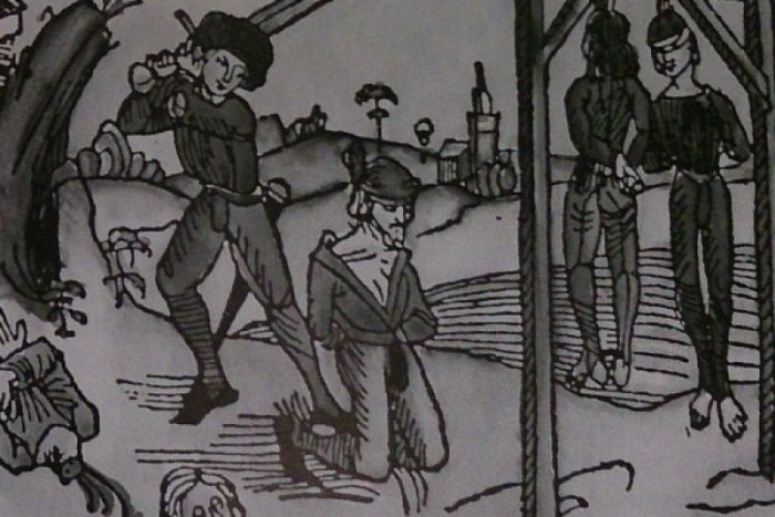 Ilustračný obrázok ku kvízu Kým bol prešporský kat a kde v meste stáli popraviská?