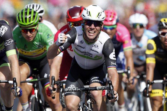 6f72bda938a1b Ilustračný obrázok k článku Cavendish vyhral 6. etapu a má zelený dres, Sagan  skončil